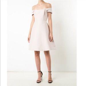 Halston Heritage Off the Shoulder Blush Dress 6